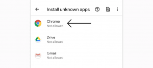 Steps to install APK